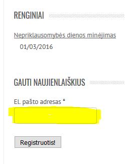 20160207 Naujienlaiškių registracijso langas