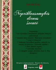 Nepriklausomos Lietuvos valstybės šventė